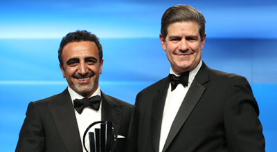 Hamdi Ulukaya and Jim Turley