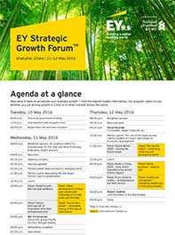 EY - SGF China 2016 - Additional networking opportunities