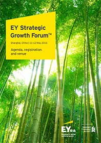 EY - SGF China 2016 - Overview, Agenda, Registration
