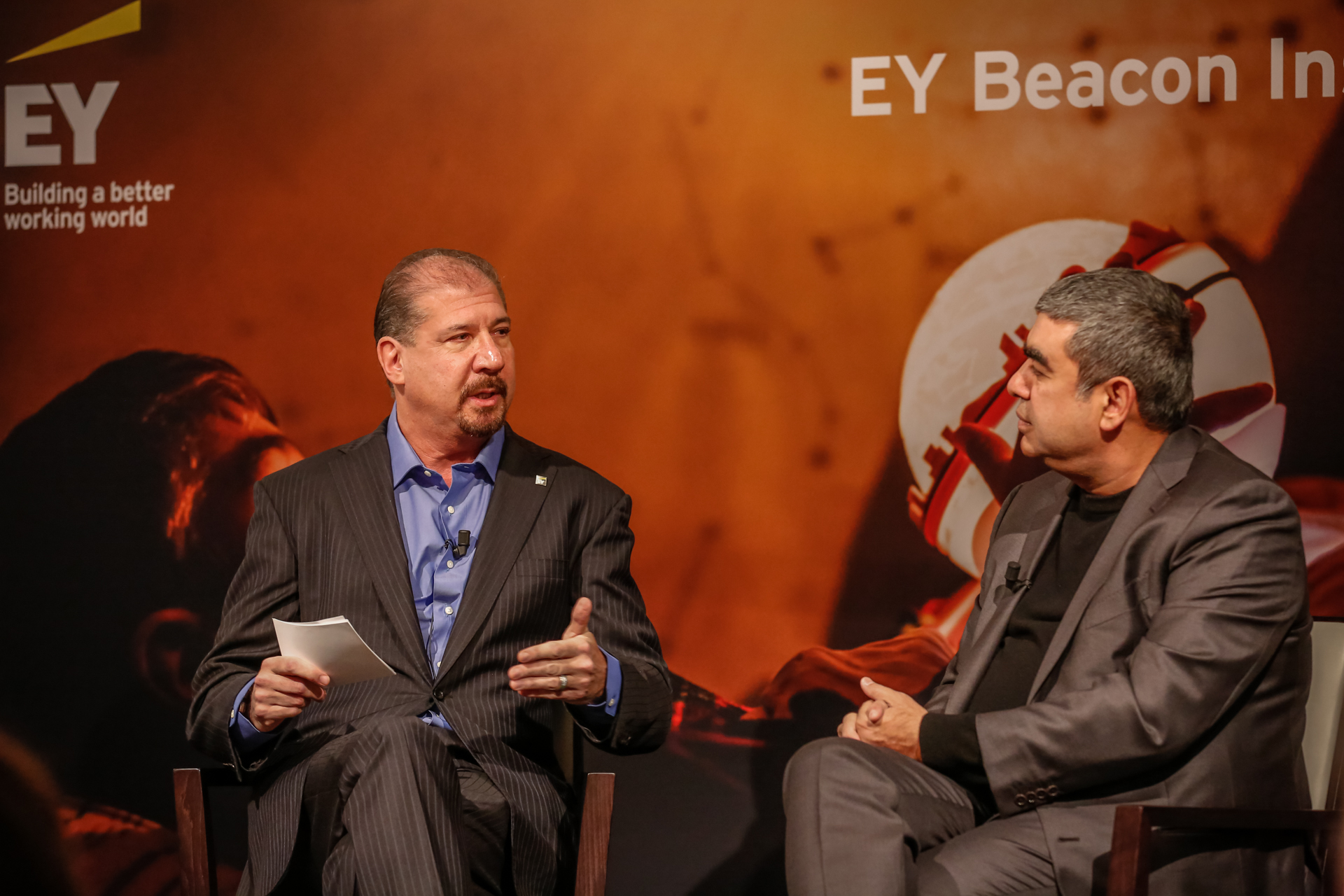 beacon institute global dr vishal sikka ceo infosys and mark weinberger global chairman and ceo at the world economic forum 2017