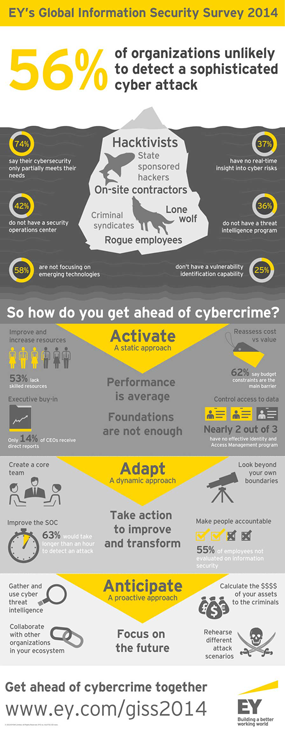 EY - Global Information Security Survey 2014 infographic