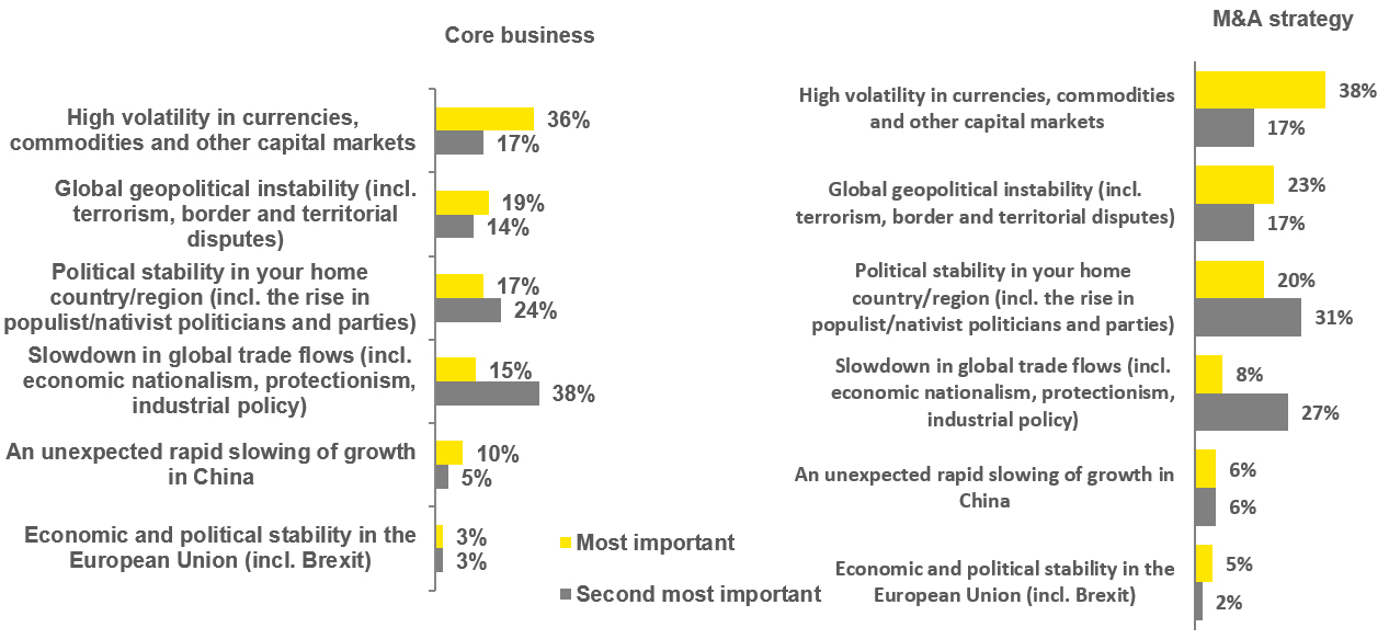 EY - What do you believe to be the greatest economic risk to your core business and M&A strategy over the next 6–12 months?