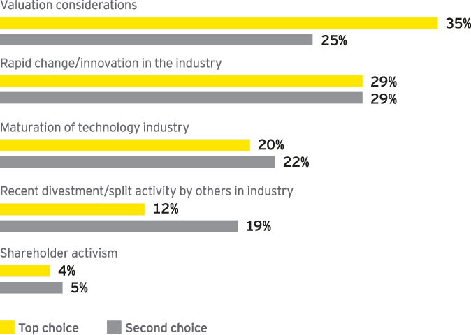 Which key technology sector trends have motivated you to consider a divestment?