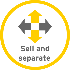 Sell and separate