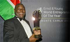 EY - Dr. James Mwangi, the 2012 World Entrepreneur Of The Year
