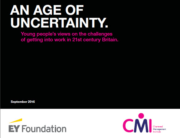 EY - An age of uncertainty: young people's views on the challenges of getting into work in 21st century Britain