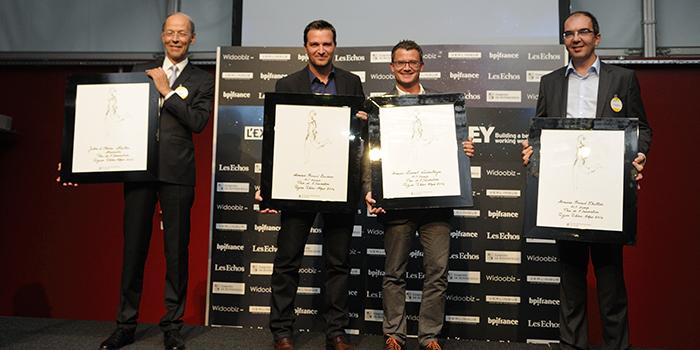 EY - Prix de l'Innovation : Laurent Windenberger – Arnaud Courdesses – Arnaud Thiollier, Directeurs généraux associés