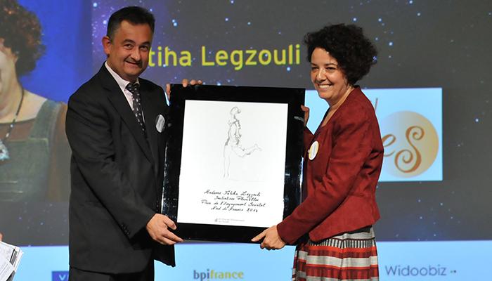 EY Le Prix de l'Engagement Sociétal pour Fatiha Legzouli, Fondatrice et directrice d'Initiatives Plurielles (59)