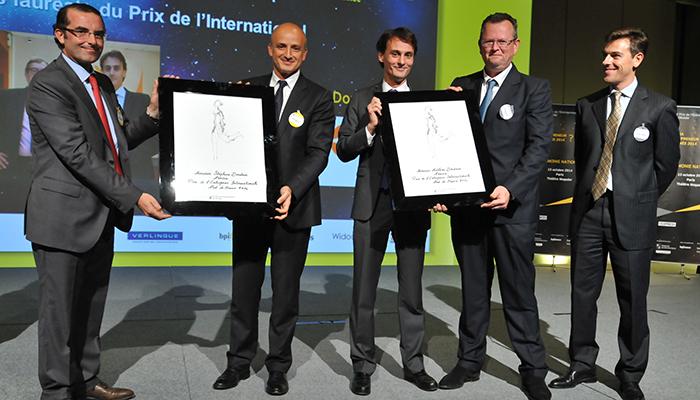 EY Le Prix de l'Entreprise Internationale pour Stéphane et Mathieu Dondain, Président et Directeur Général de Nexira (76)