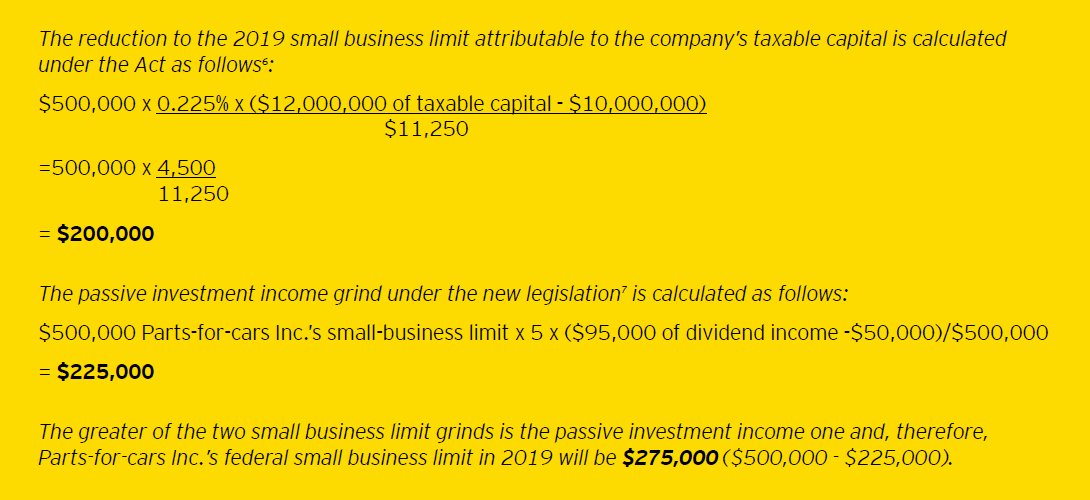 EY - TaxMatters - Ontario small business limit calculation
