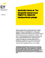 EY - Australian focus on Tax Corporate Governance:  Impact on Japanese headquartered groups