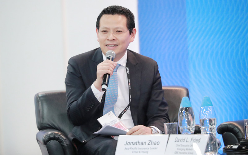 EY - Jonathan Zhao chairing the panel session
