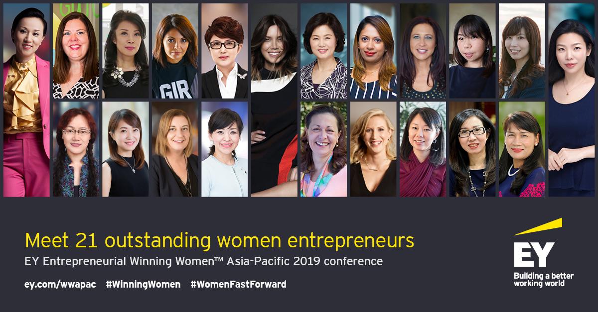 Para peserta konferensi yang dipilih untuk mengikuti 2019 EY Entrepreneurial Winning Women ™ Asia-Pacific | Sumber: EY