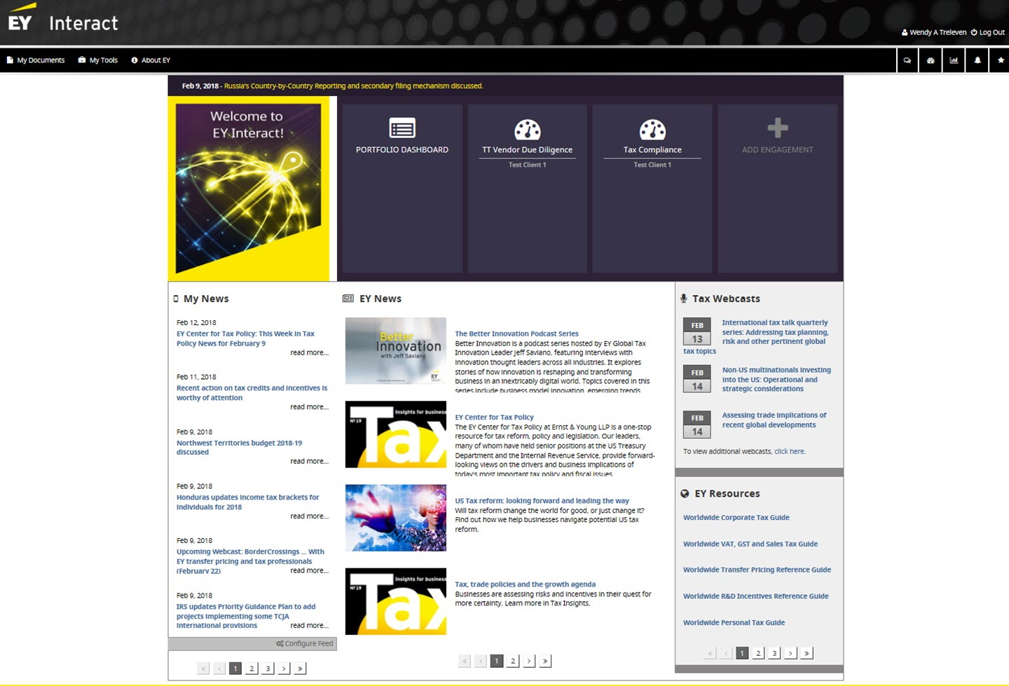 EY Interact – a closer look at the engagement dashboard