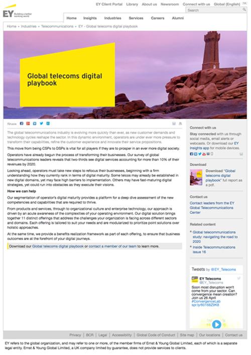 EY - Global telecoms digital playbook