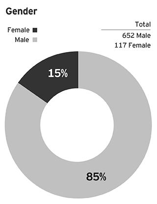 EY - Survey respondents' demographics: Gender