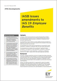 EY - IFRS Developments Issue 134: IASB issues amendments to IAS 19 Employee Benefits