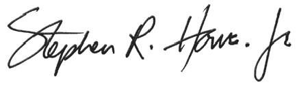 EY - Stephen R. Howe, Jr.